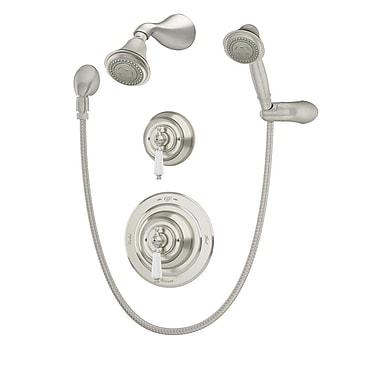 Symmons Carrington Pressure Balance Hand Shower w/ Lever Handle; Satin Nickel