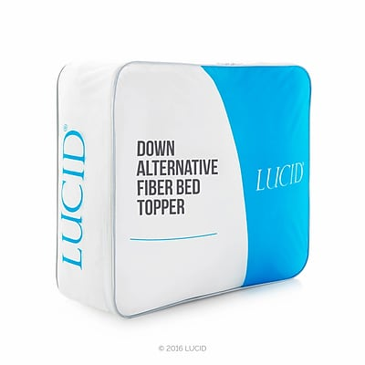 Lucid 3'' Down Alternative Mattress Topper; Twin