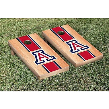 Victory Tailgate Stripe Hardcourt Version Cornhole Game Set; Arizona Wildcats
