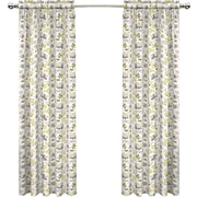 Traditions by Waverly Set in Spring Single Curtain Panel; Sterling