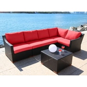 Bellini Marcelo 6 Piece Deep Seating Group w/ Cushion; Dura-Fast Red