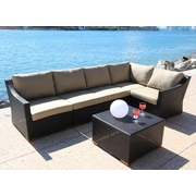 Bellini Marcelo 6 Piece Deep Seating Group w/ Cushion; Dura-Fast Meridian Metals