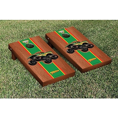 Victory Tailgate Monster Jam Dragon Stained Stripe Version Cornhole Game Set; Rosewood