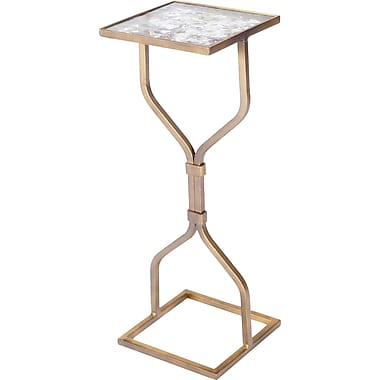 Knox & Harrison End Table; Antique Gold