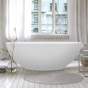 Aquatica Karolina 70.75'' x 35.5'' Soaking Bathtub; White
