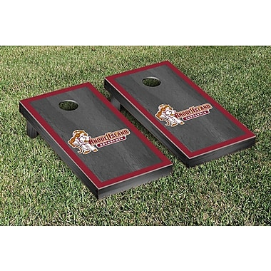 Victory Tailgate NCAA Onyx Stained Border Version Cornhole Bag Toss Game Set; Rhode Island Anchormen