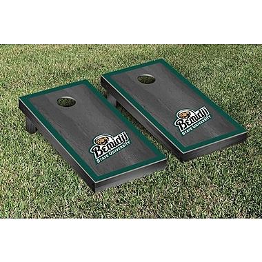 Victory Tailgate NCAA Onyx Stained Border Version Cornhole Bag Toss Game Set; Bemidji State Beavers