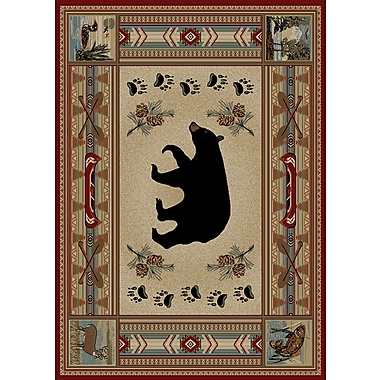 Mayberry Rug Hearthside Woodlands Bear Area Rug; Rectangle 2'2'' x 3'3''