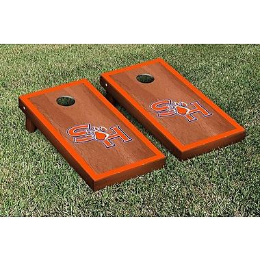Victory Tailgate NCAA Rosewood Border Version Cornhole Game Set; Sam Houston State SHSU Bearkats
