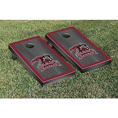 Victory Tailgate NCAA Onyx Stained Border Version Cornhole Bag Toss Game Set; Colgate Raiders
