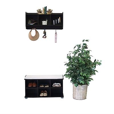 Proman Kendal Shoe Storage Bench and Hutch Set