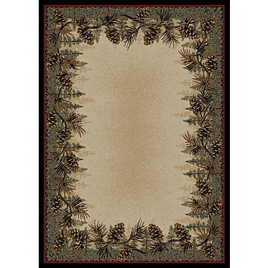 Mayberry Rug American Destinations Beige/Green Area Rug; Rectangle 2' x 3'