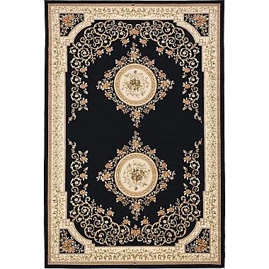 Unique Loom Versailles Black Area Rug; 8'2'' x 11'6''