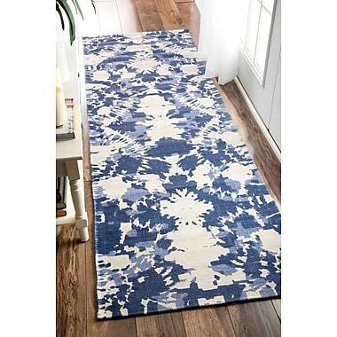 nuLOOM Charise Hand-Woven Blue Area Rug; 2' 6'' x 8'