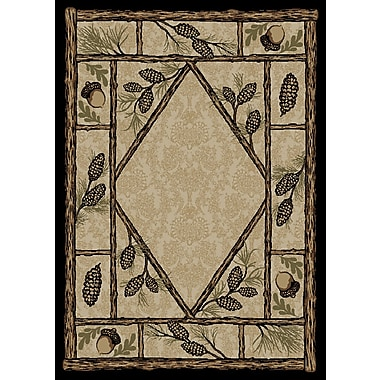 Mayberry Rug American Destinations Beige/Black Area Rug; Rectangle 4' x 6'