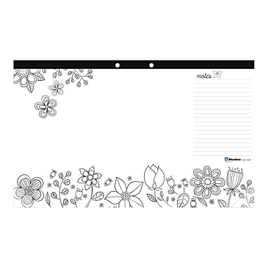 Blueline® DoodlePlan™ Colouring Desk Pads