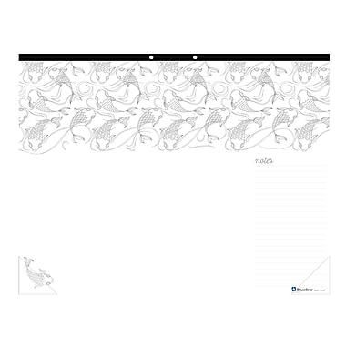 Blueline® DoodlePlan™ Colouring Desk Pad, Multiplicity