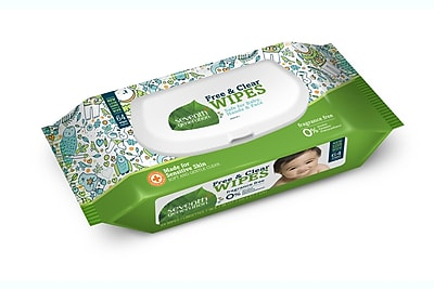 Seventh Generation™ Free & Clear Baby Wipes, Unscented, 64 Wipes/Pack (34208)