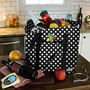 Vaultz Locking Cooler Bag, Black/White Polka Dots (VZ03513)