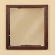 DecoLav Adrianna Framed Mirror; Dark Walnut