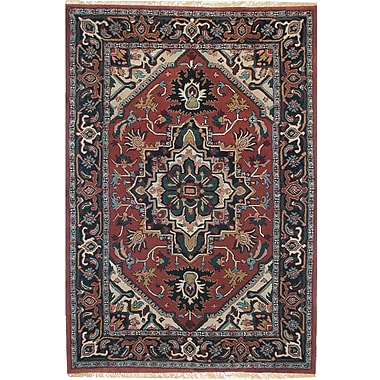 American Home Rug Co. American Home Classic Heriz Rust/Navy Area Rug; 2' x 4'