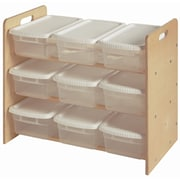 Little Colorado Nine Bin Toy Organizer Double Sided 9 Compartment Cubby; Sanded / Unfinished