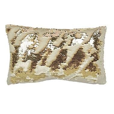 Aviva Stanoff Design Mermaid Sequins Lumbar Pillow