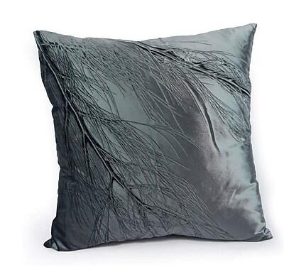 Aviva Stanoff Design Signature Sea Flower on Cinder Velvet Throw Pillow