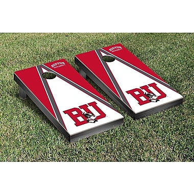 Victory Tailgate NCAA Triangle Version Cornhole Game Set; Boston BU Terriers