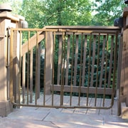 Cardinal Gates Stairway Special Outdoor Gate; Brown