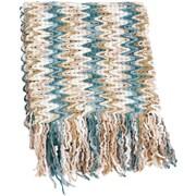 Saro Knitted Chevron Design Throw