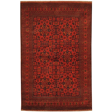 Herat Oriental Khal Mohammadi Hand-Knotted Red/Navy Area Rug
