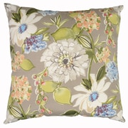 Swan Dye and Printing Pierette Throw Pillow; Pewter