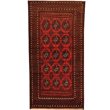 Herat Oriental Balouchi Hand-Knotted Red/Ivory Area Rug