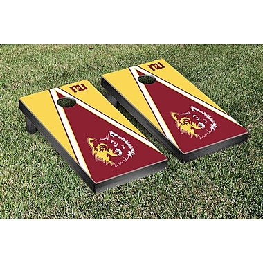 Victory Tailgate NCAA Triangle Version Cornhole Game Set; Northern State University Wolves