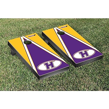 Victory Tailgate NCAA Triangle Version Cornhole Game Set; Hunter College Hawks