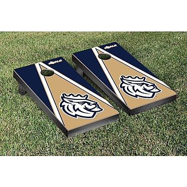 Victory Tailgate NCAA Triangle Version Cornhole Game Set; Queens University of Charlotte Royals