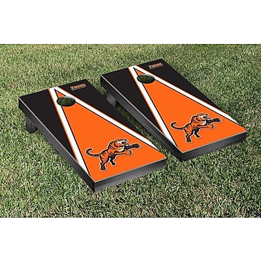 Victory Tailgate NCAA Triangle Version Cornhole Game Set; Rochester Institute of Technology Tigers