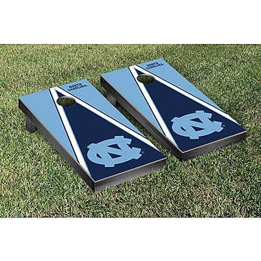 Victory Tailgate NCAA Triangle Version 1 Cornhole Game Set; North Carolina UNC Tar Heels