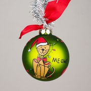 Glory Haus Christmas Cat Glass Ornament