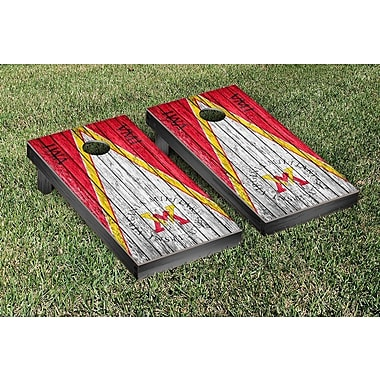 Victory Tailgate Triangle Weathered Version Cornhole; Virginia Military Keydets