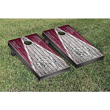 Victory Tailgate Triangle Weathered Version Cornhole; Fordham Rams