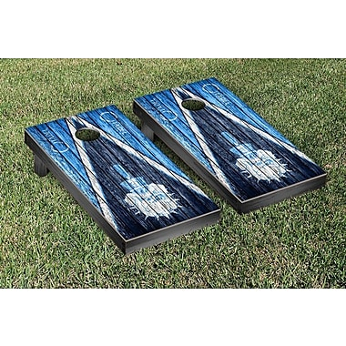 Victory Tailgate NCAA Triangle Weathered Version Cornhole Boards Game Set; Citadel Military Bulldogs
