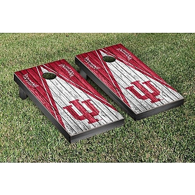 Victory Tailgate NCAA Triangle Weathered Version Cornhole Boards Game Set; Indiana Hoosiers