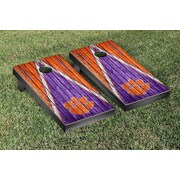Victory Tailgate Triangle Weathered Version Cornhole; Clemson Tigers