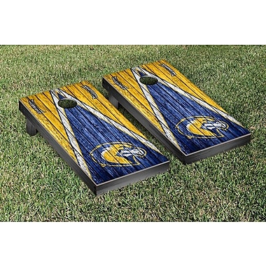 Victory Tailgate Triangle Weathered Version Cornhole; Marquette Golden Eagles