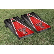Victory Tailgate NCAA Triangle Weathered Version Cornhole Boards Game Set; Texas Tech Red Raiders