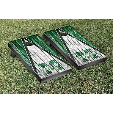 Victory Tailgate NCAA Triangle Weathered Version Cornhole Boards Game Set; Manhattan Jaspers