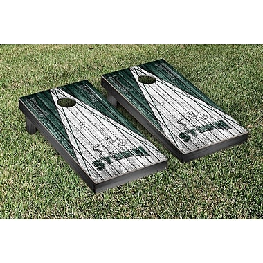 Victory Tailgate NCAA Triangle Weathered Version Cornhole Boards Game Set; Lake Erie College Storm