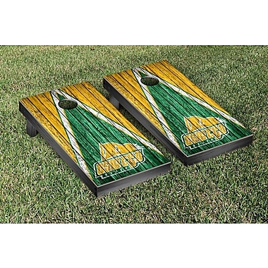 Victory Tailgate NCAA Triangle Weathered Version Cornhole Boards Game Set; Oswego State SUNY Lakers